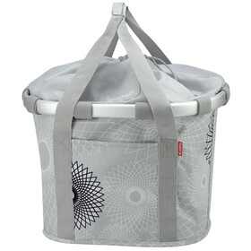 KlickFix Reisenthel Cesta de la bicicleta, crystals-light grey